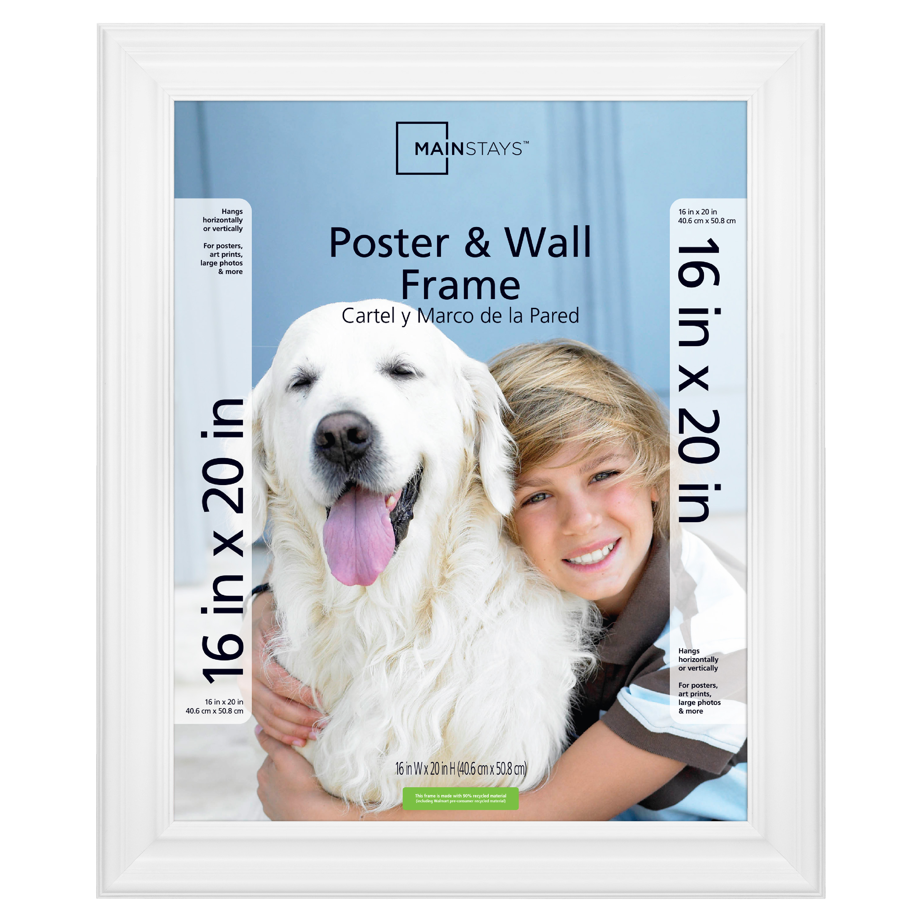 "Mainstays 16x20"" White Poster and Picture Frame"