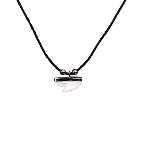 Welcome to the Islands Hemp Cord Necklace Resin Shark (Welcome Tooth)