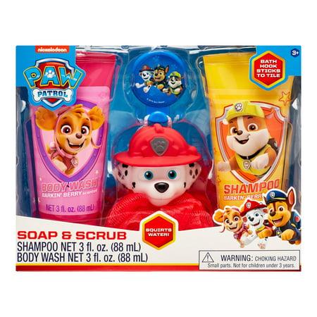 PAW Patrol 4-Piece Soap and Scrub Body Wash and Shampoo Set