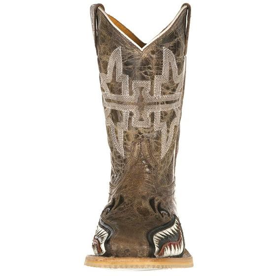484fc5610cd Tin Haul Footwear Boys Tin Haul Sharky Man Eater Brown Top Boots