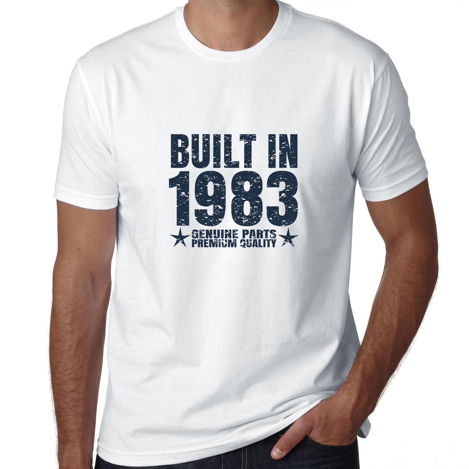 Built In 1983 - Perfect Birthday Present Gift - Vintage Men's T-Shirt