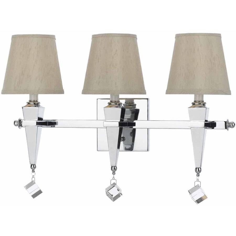 AF Lighting Margo 3-Light Vanity with Cream Shades