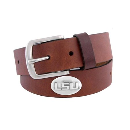 Zep-Pro LSU-BOLP-BRW-38 Lush Tigers Concho Emblem Brown Belt Size 38 - image 1 of 1