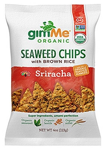 Gimme Chips Seaweed Rice Chips, Sriracha, 4 Oz by Gimme