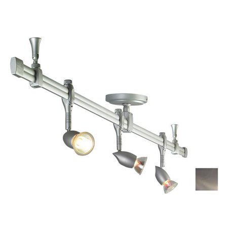Nora Lighting NRS21-4104BN Nora Rail Kit  4 ft.  Straight Rail with 3 Neat Fixtures  Brushed