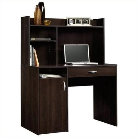 Sauder Beginnings Desk with Drawer and Hutch, Cinnamon - Modern Desk Hutch