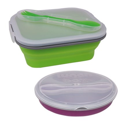 imperial home bento box lunch 2 container food storage set. Black Bedroom Furniture Sets. Home Design Ideas