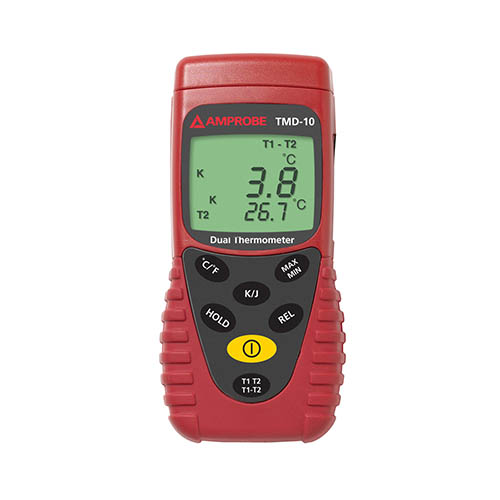 Amprobe TMD-10 K/J Type Dual Temperature Meter, with K Th...
