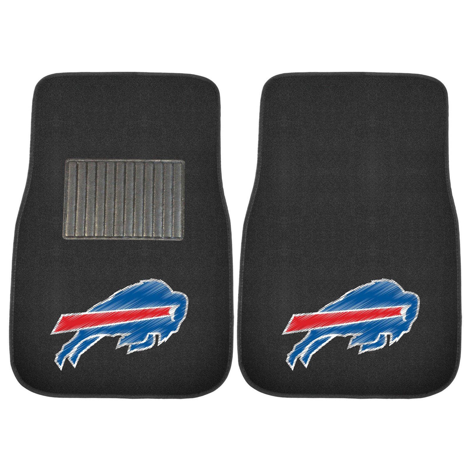 FanMats NFL Buffalo Bills 2-Piece Embroidered Car Mats