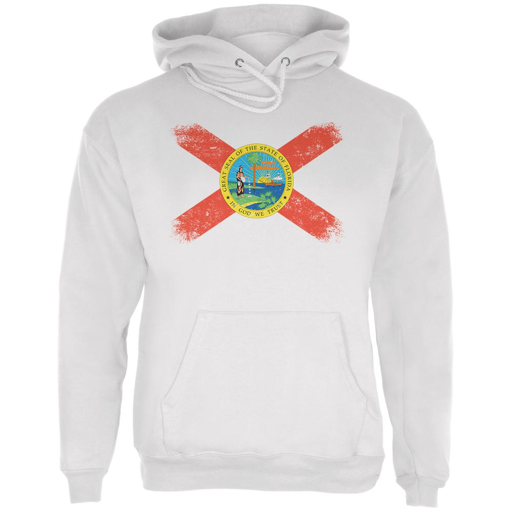 Born and Raised Florida State Flag Mens Hoodie by Old Glory
