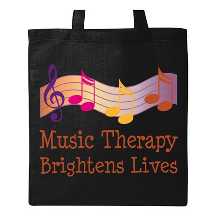Therapy Bag (Music Therapy Slogan Tote Bag Black One)