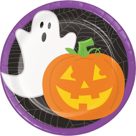 Friendly Halloween Dessert Plate, 8 ct