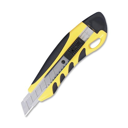 Sparco Pvc Anti-slip Rubber Grip Utility Knife - Yellow (SPR15851)