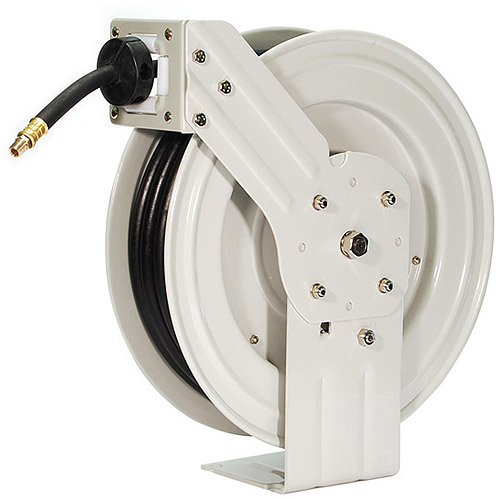 PrimeFit Industrial-Grade Retractable Air Hose Reel with 50' Rubber Air Hose