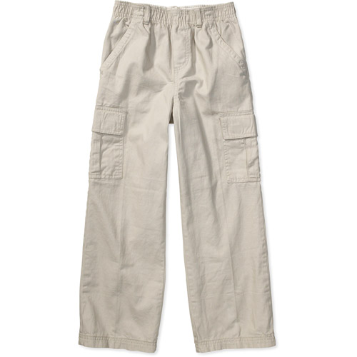 Faded Glory - Boys' Elastic-Waist Twill Cargo Pants