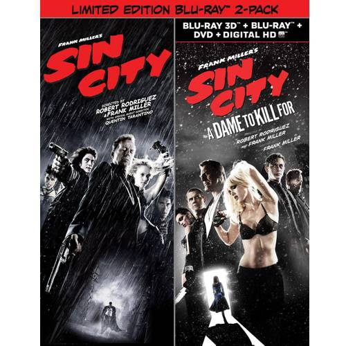 Sin City (Blu-ray) / Sin City: A Dame To Kill For (Limited Edition) (3D Blu-ray + Blu-ray + DVD + Digital