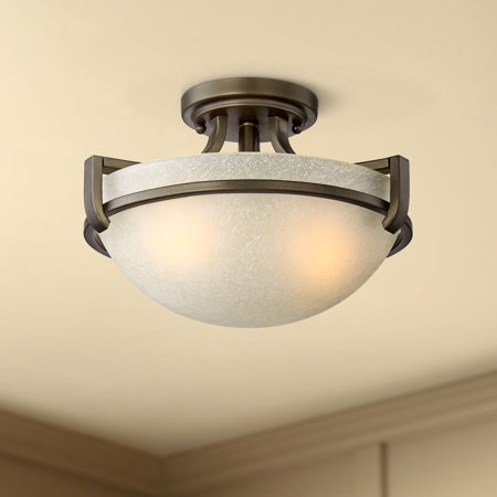 Regency Hill Ceiling Light Semi Flush Mount Fixture Bronze 13