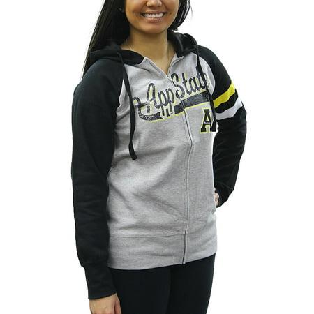 Creative Apparel Women's NCAA Appalachian State Mountaineers Sweat Jacket Hoodie - Nc State Apparel