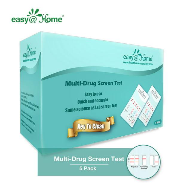 5 Pack Easy Home 6 Panel Instant Urine Drug Test Edoap 865 Walmart Com Walmart Com