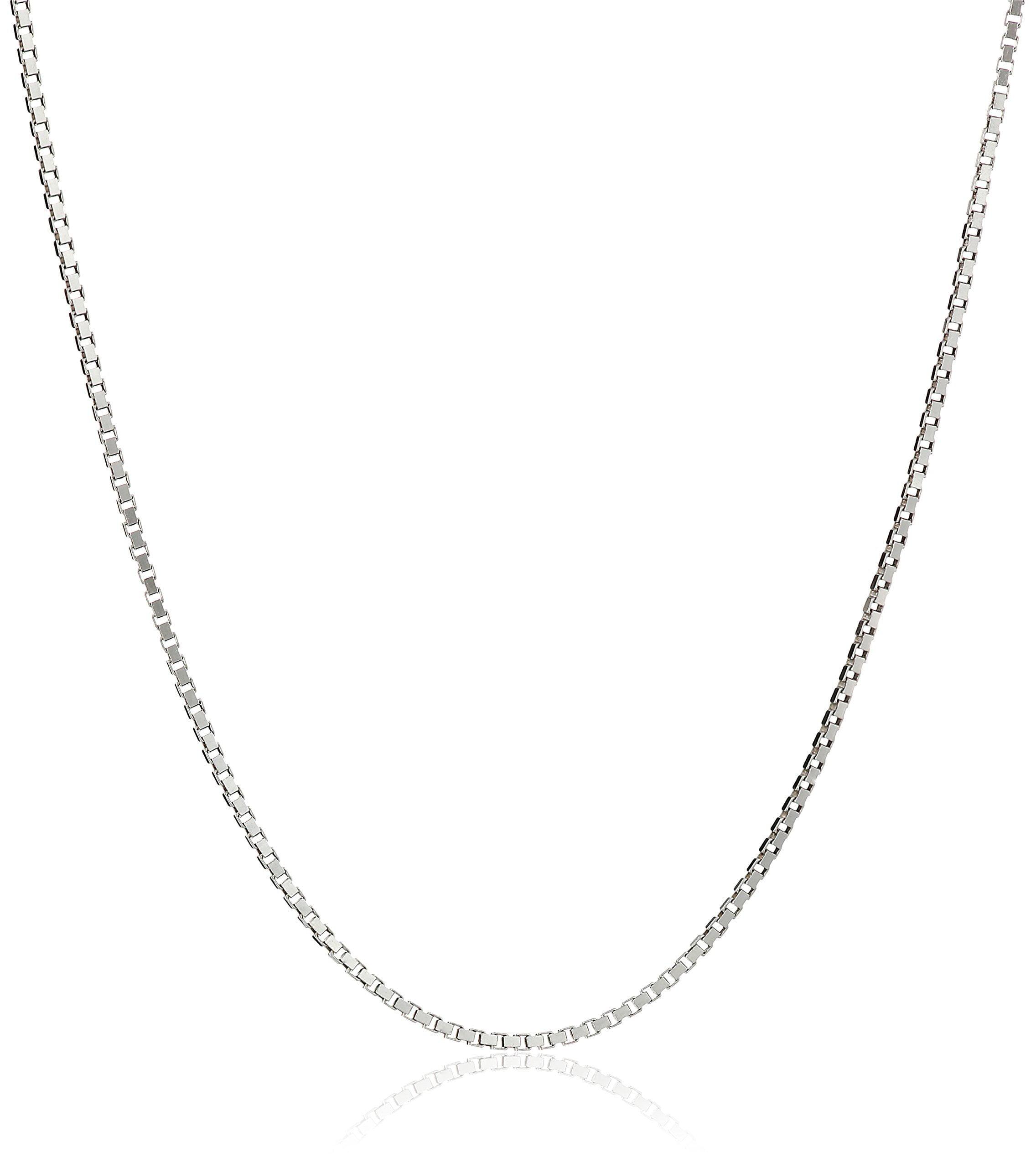 Honolulu Jewelry Honolulu Jewelry Company Sterling Silver 1mm Box Chain Necklace 14 Quot 36 Quot 14 0 Inches Walmart Com Walmart Com