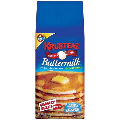 Krusteaz Family Size Buttermilk Complete Pancake Mix, 56 oz