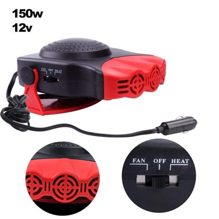 - Portable Car Heater,Ferryone 30 Seconds Fast Heating Quickly Defrosts Defogger 12V 150W Auto Ceramic Heater Cooling Fan 3-Outlet(Red)