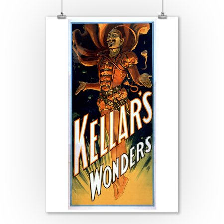 Kellar's Wonders Dressed like Devil Magic Poster (9x12 Art Print, Wall Decor Travel Poster)](Magic Decor)