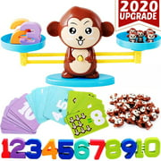 STEM Toys & Games Monkey Balance Math Games for Boys & Girls, Educational Math Games Math Manipulatives Children's Gift Family Games & Kids Learning Toy Ages 3+ (64-Piece Set)
