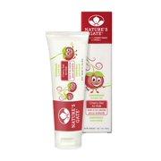 Toothpaste Cherry Gel Flouride-Free Nature's Gate 5 oz Cream