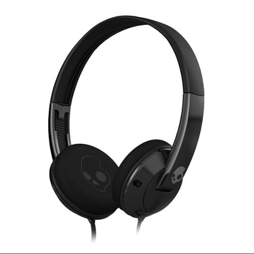 SkullCandy Lowrider - Headphones with mic - full size - wired - black