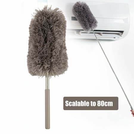 Maid Feather Duster (Adjustable Soft Microfiber Feather Duster Dusting Brush Household Cleaning Tool-Scalable to)