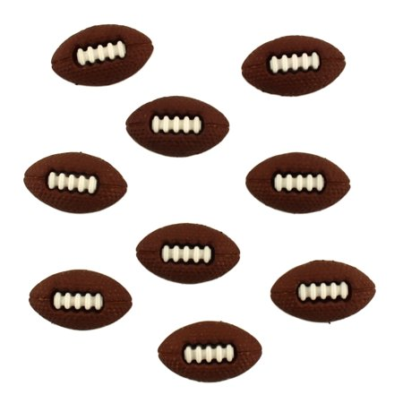 Buttons Galore Craft & Sewing Buttons - Footballs - 3 Packs (27 Buttons) - Halloween Buttons Sewing