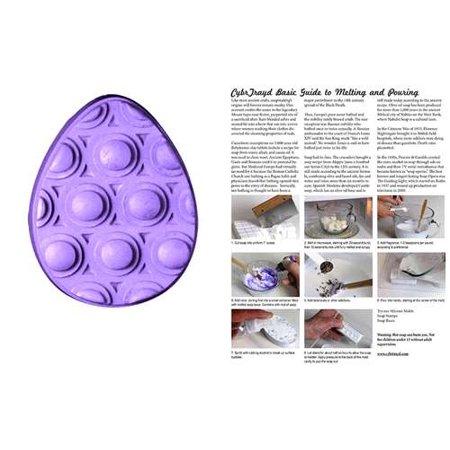 - Milky Way Clear PVC Massage Egg Soap Mold - Makes 5 oz Bars. Melt & Pour, Cold Process