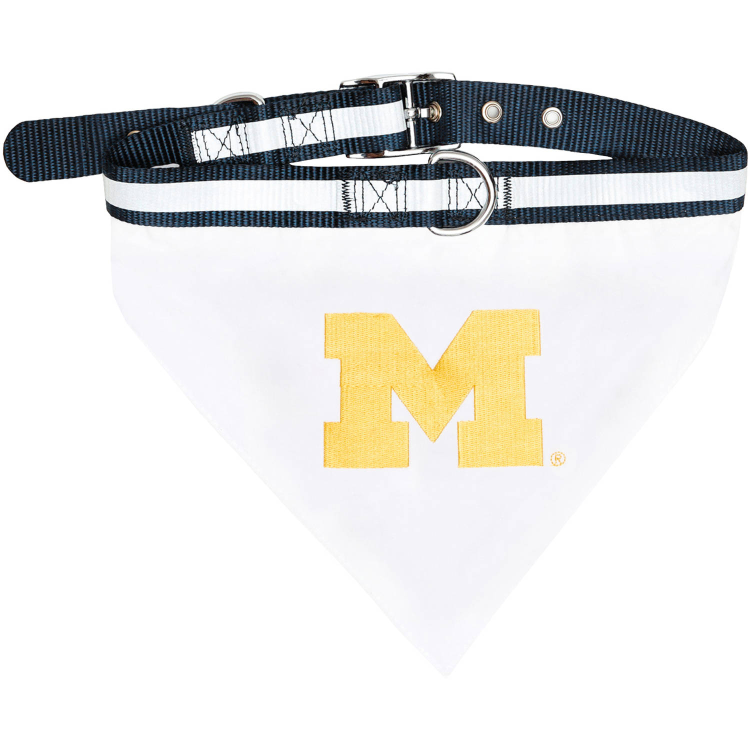 Pets First College Michigan Wolverines Pet Bandana, 3 Sizes Available with Collar