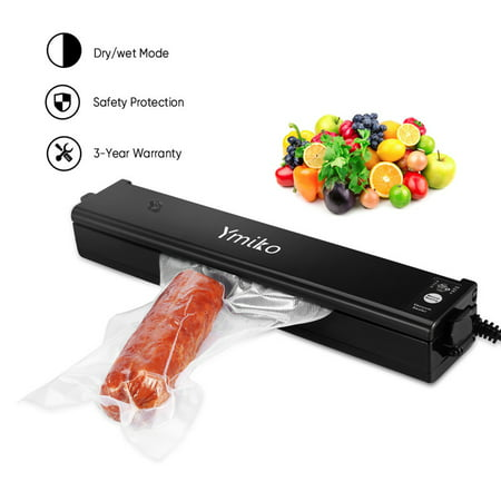 Portable Vacuum Heat Seal Machine with 20pcs Heat-Seal Bags Ymiko Sealer Food Saver Machine for Food Preservation and Sous Vide Cooking ()