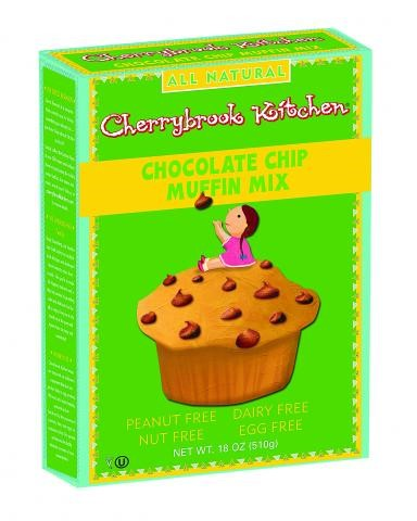 Cherrybrook Kitchen Chocolate Chip Muffin Mix, Peanut Free!, 18 Ounce Boxes by CHERRYBROOK KITCHEN