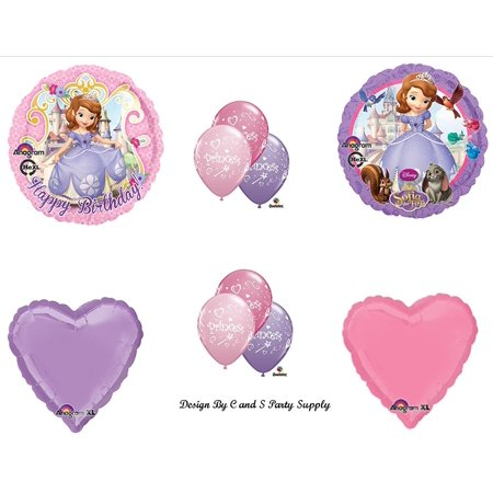 Disney's SOFIA THE FIRST Happy Birthday PARTY Balloons Decorations Supplies by, Sofia The First Birthday Balloons Decorations Supplies By Anagram - Sofia The First First Birthday