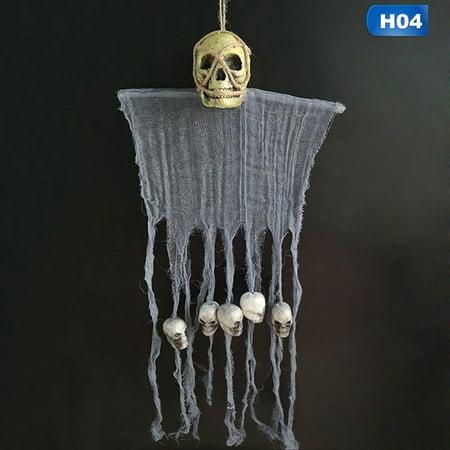 Halloween Door Hanging Crafts (KABOER 120Cm Skull Halloween Hanging Ghost Haunted House Hanging Grim Reaper Horror Props Home Door Bar Club Halloween)