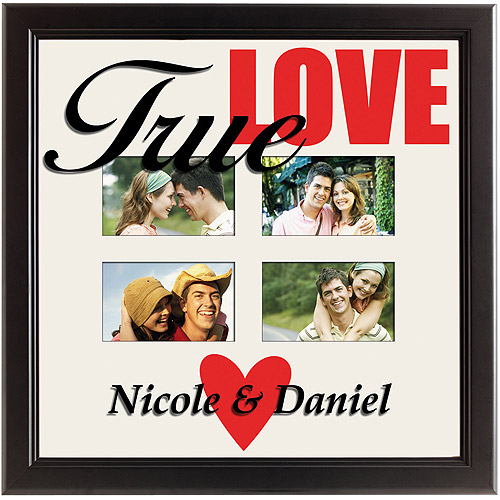Personalized 4-Photo True Love Picture Frame