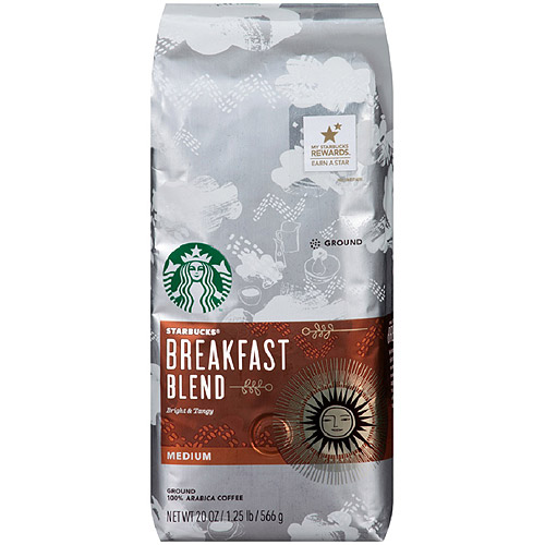 Starbucks Breakfast Blend Medium Ground Coffee, 20oz