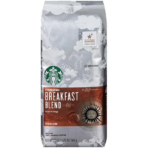Starbucks Breakfast Blend Medium Ground Coffee, 20oz
