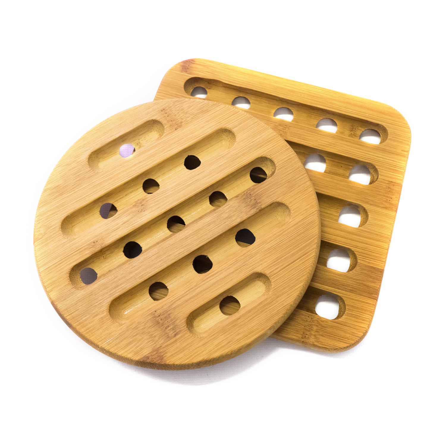 "2 Piece Bamboo Trivet Set square: 7"" x 7\ by HDS TRADING CORP"
