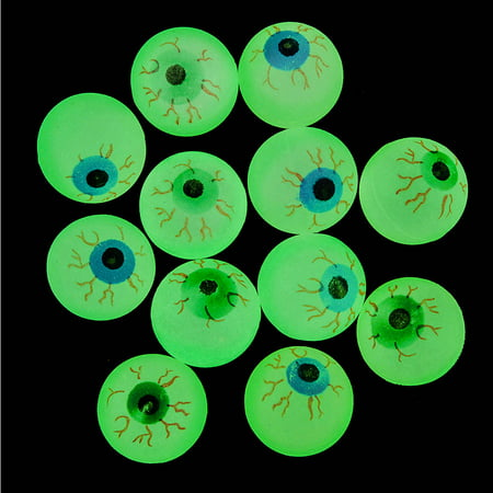 Glow Eyeball Bounce Balls, Pack of 12