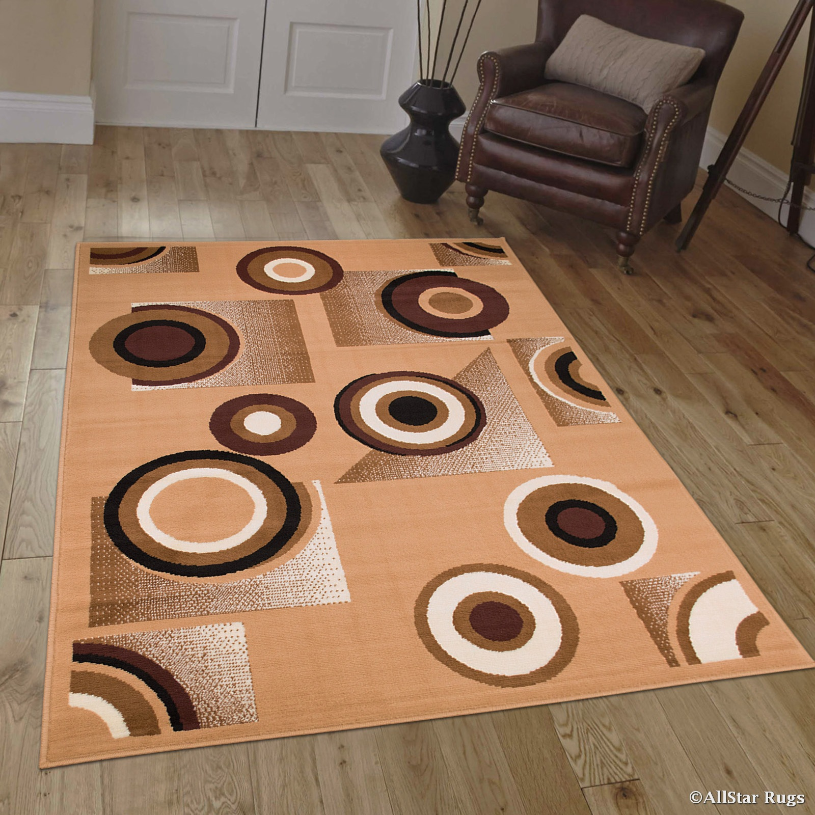 Allstar Brown Area Rug. Contemporary. Abstract. Traditional. Geometric.  Formal. Shapes