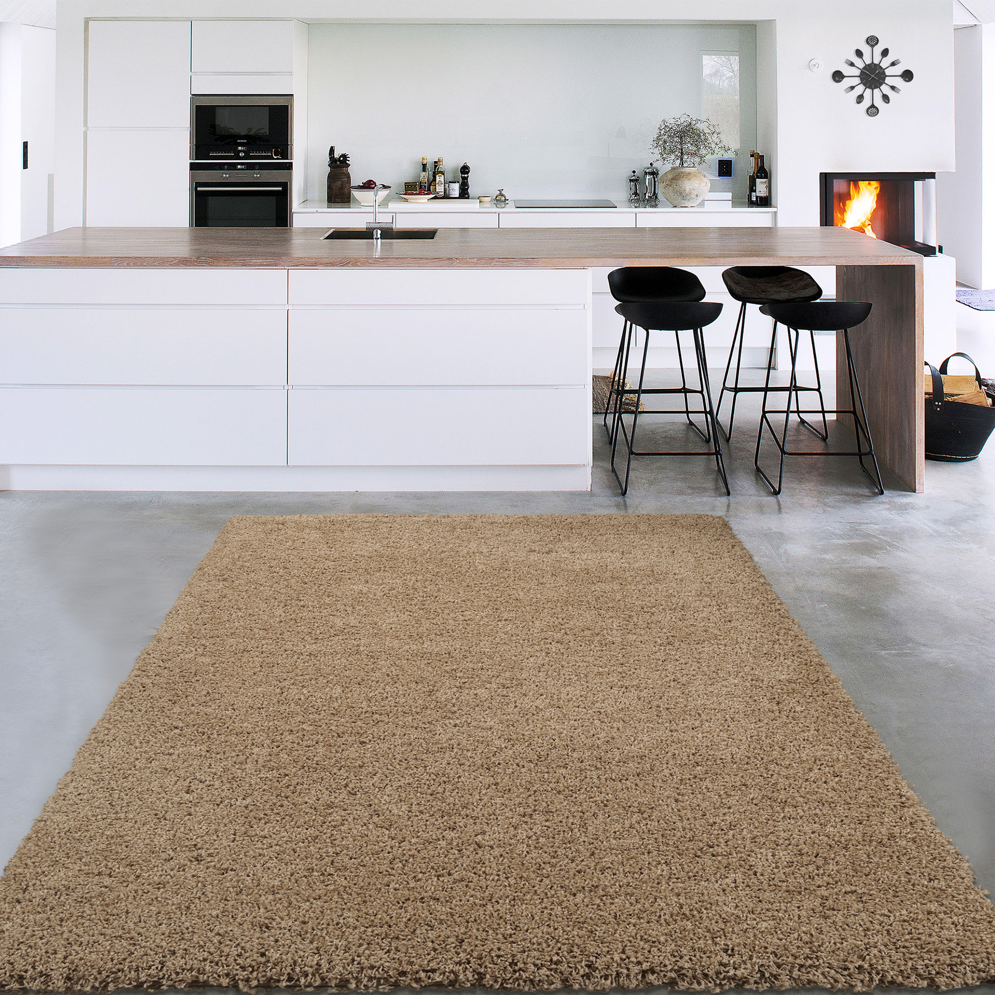 Sweet Home Stores Cozy Shag Collection Solid Soft Shaggy Indoor Area or Runner Rug by Sweet Home Stores