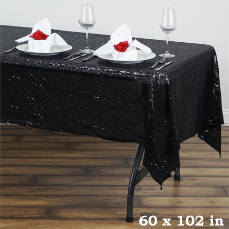Silver Sequin Tablecloth (Efavormart LUXURY COLLECTION Duchess Sequin Rectangle Tablecloth 60