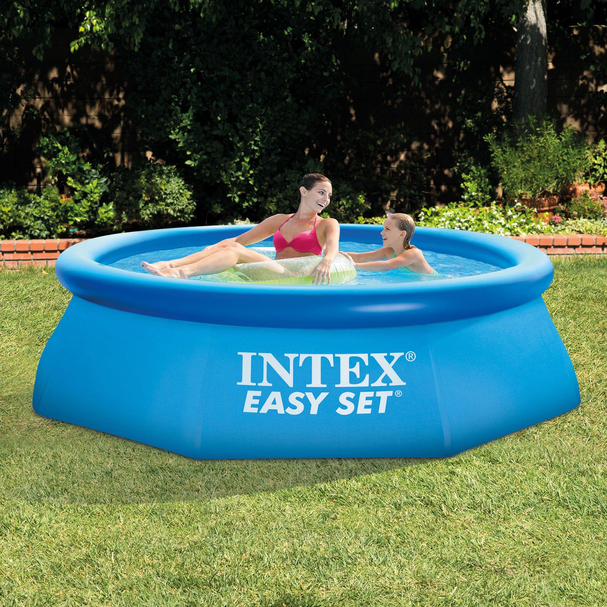 """Intex Pools intex 8' x 30"""" easy set swimming pool & 330 gph gfci filter pump"""