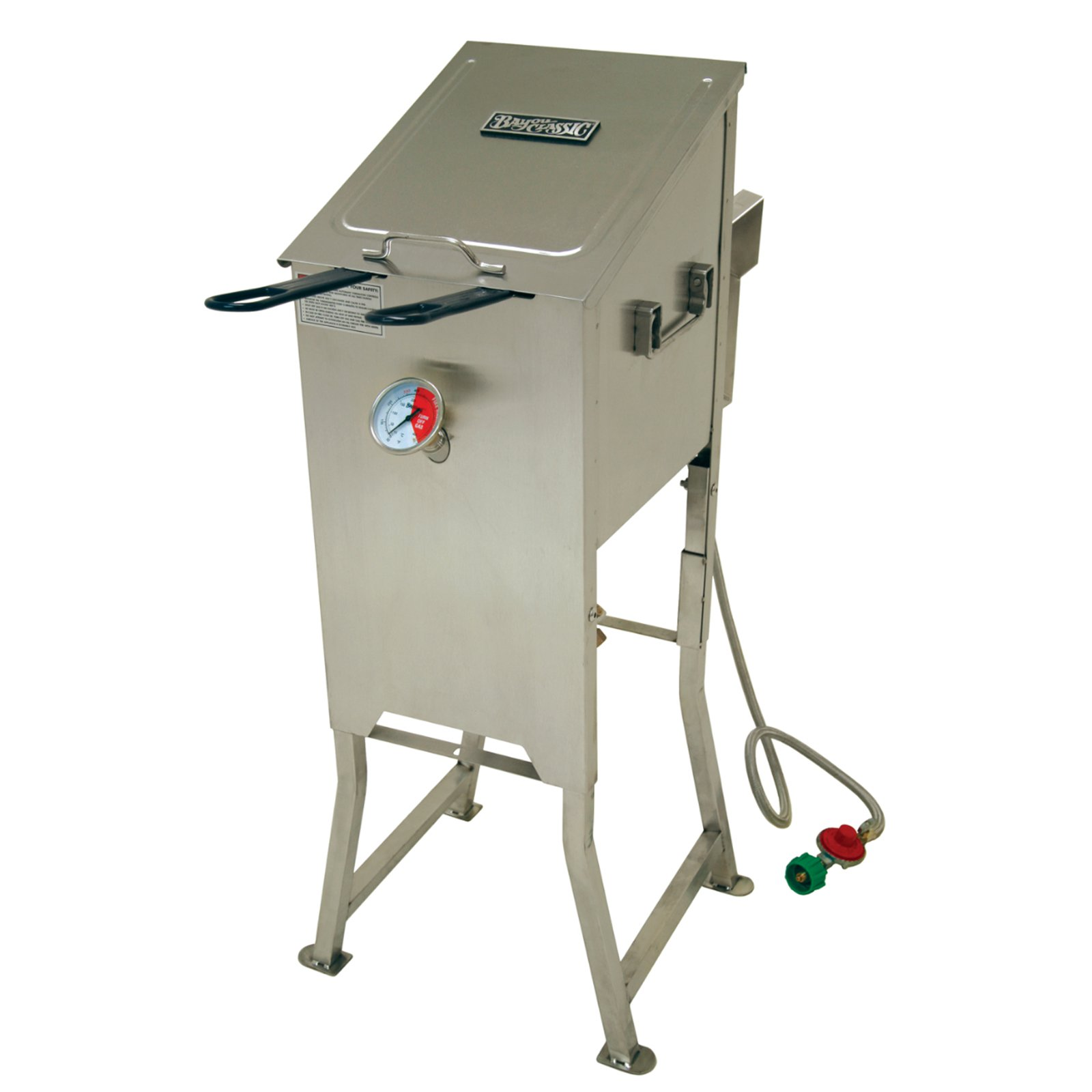 Bayou Classic 4 Gal Bayou Fryer with 2 Stainless Steel Basket