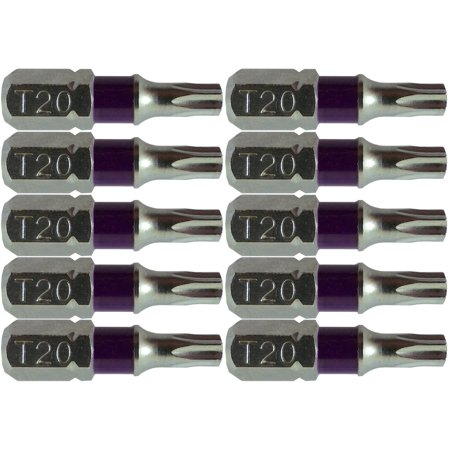 T20 (T-20) Torx/Star Driver Bit - High Quality Color Coded T20 x 1