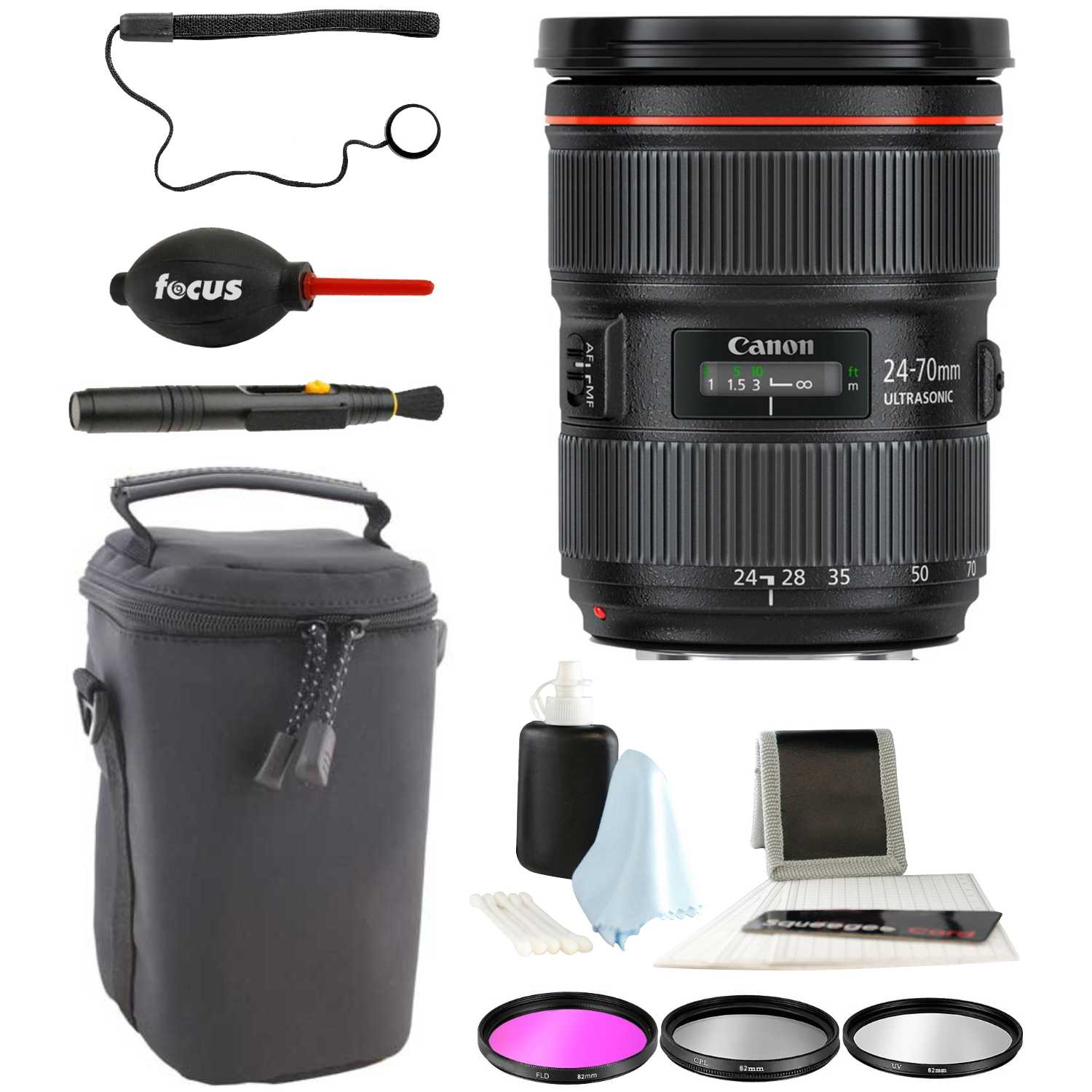 Canon EF 24-70mm f/2.8L II USM Standard Zoom Lens with Accessory Bundle